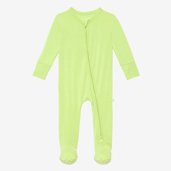 Pistachio Footie Zippered One Piece