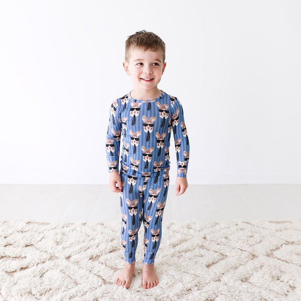 Toddler wearing Bruno Long Sleeve Pajamas