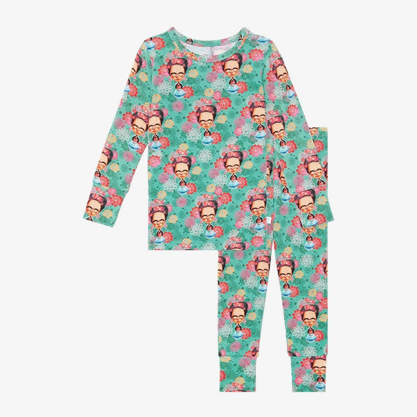 Frida Kahlo Long Sleeve Pajamas