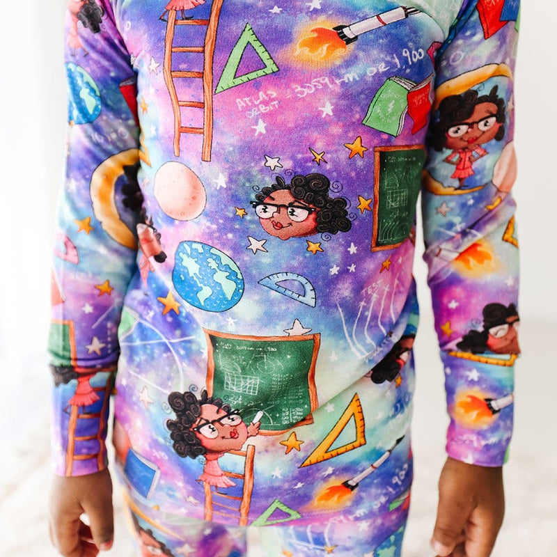 Katherine Johnson Long Sleeve Pajamas Close up