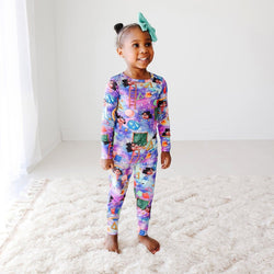 Toddler wearing Katherine Johnson Long Sleeve Pajamas