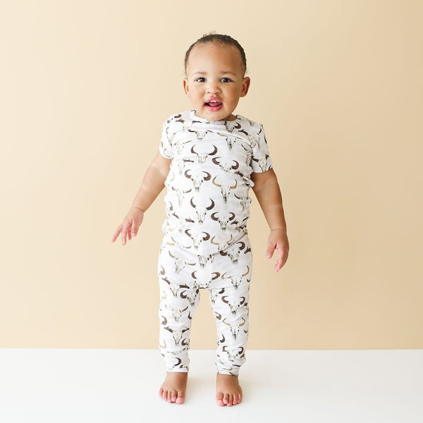 Baby wearing Austin Short Sleeve Pajamas