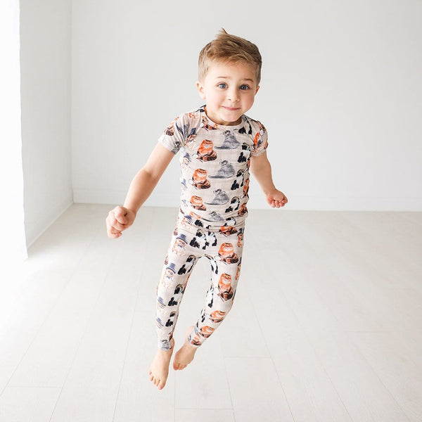 Toddler wearing Collyns Short Sleeve Pajamas