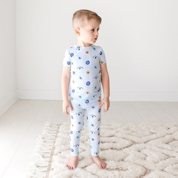 Toddler on Evil Eye Short Sleeve Pajamas