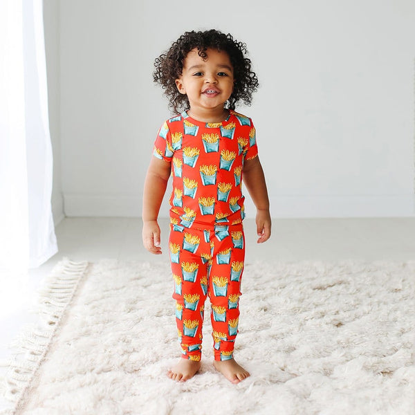 Baby on Fry Short Sleeve Pajamas