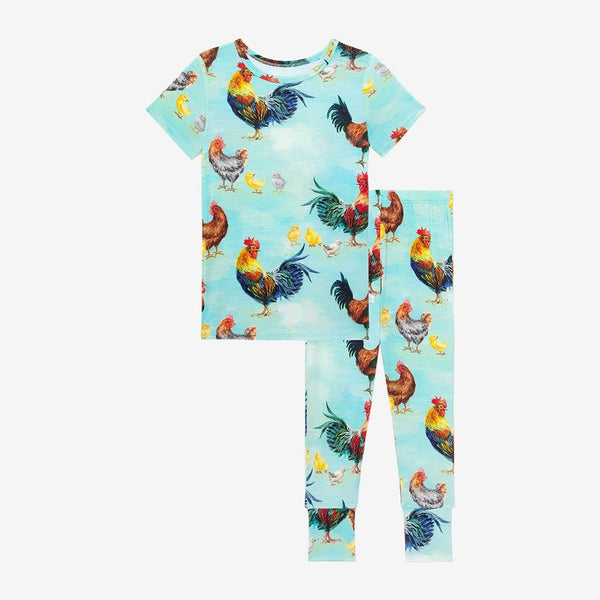 Rhett Short Sleeve Pajamas in chicken print