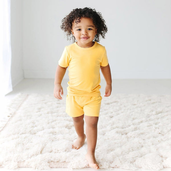 Toddler on Banana Cream Short Sleeve Short Pajamas