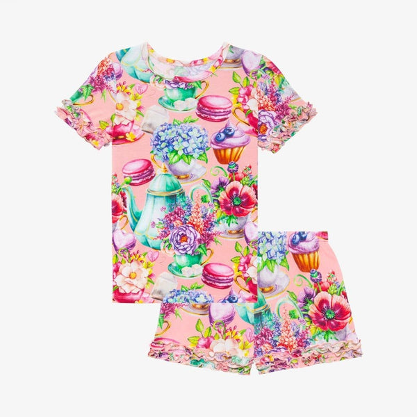Elizabeth Ruffled Short Sleeve Ruffled Short Pajamas