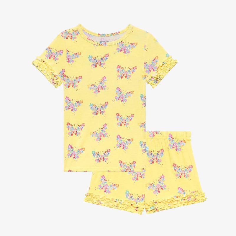 Keira Ruffled Short Sleeve Ruffled Short Pajamas