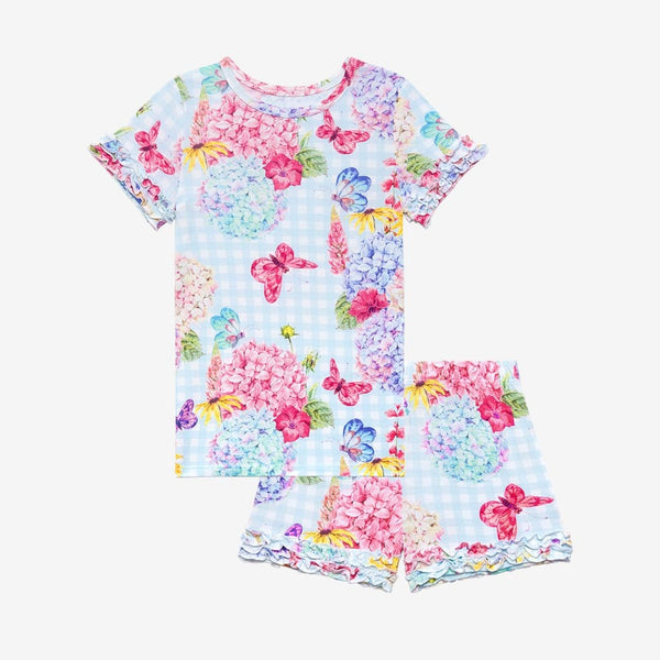 Nicolette Ruffled Short Sleeve Ruffled Short Pajamas