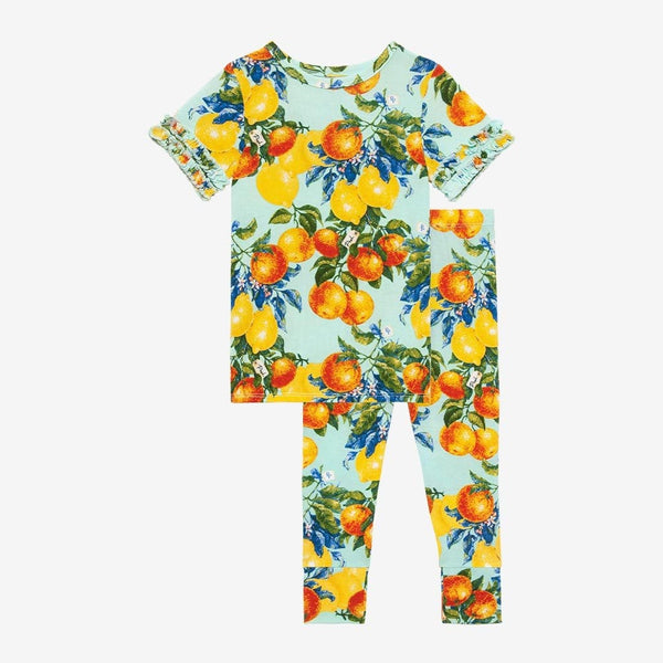 Lucia Ruffled Short Sleeve Pajamas