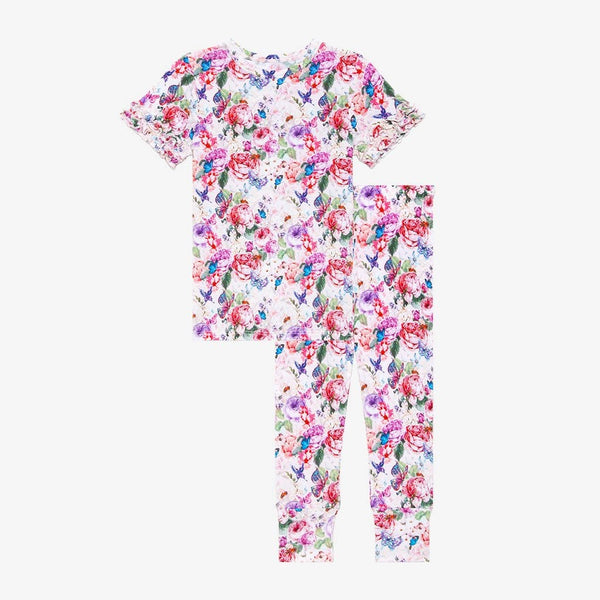 Vivienne Ruffled Short Sleeve Pajamas\
