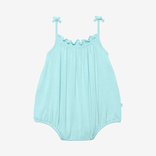 Robins Egg Sleeveless Bubble Romper