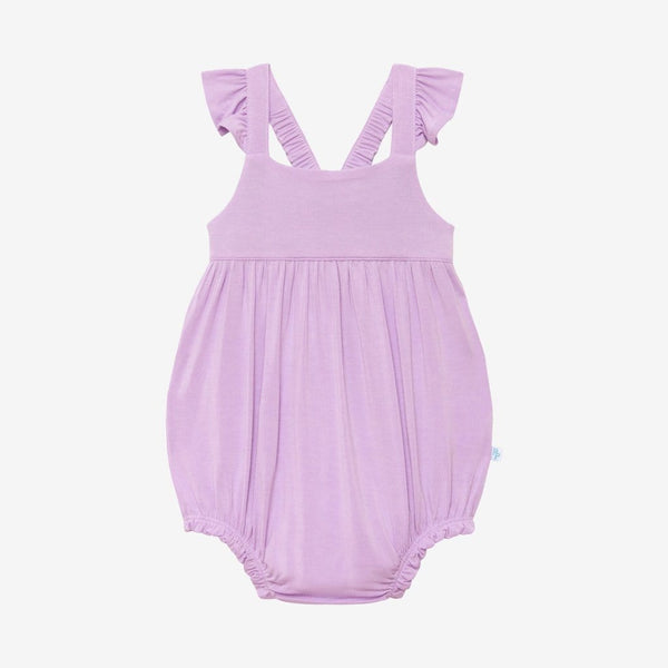 Amethyst Ruffled Cap Sleeve Bubble Romper
