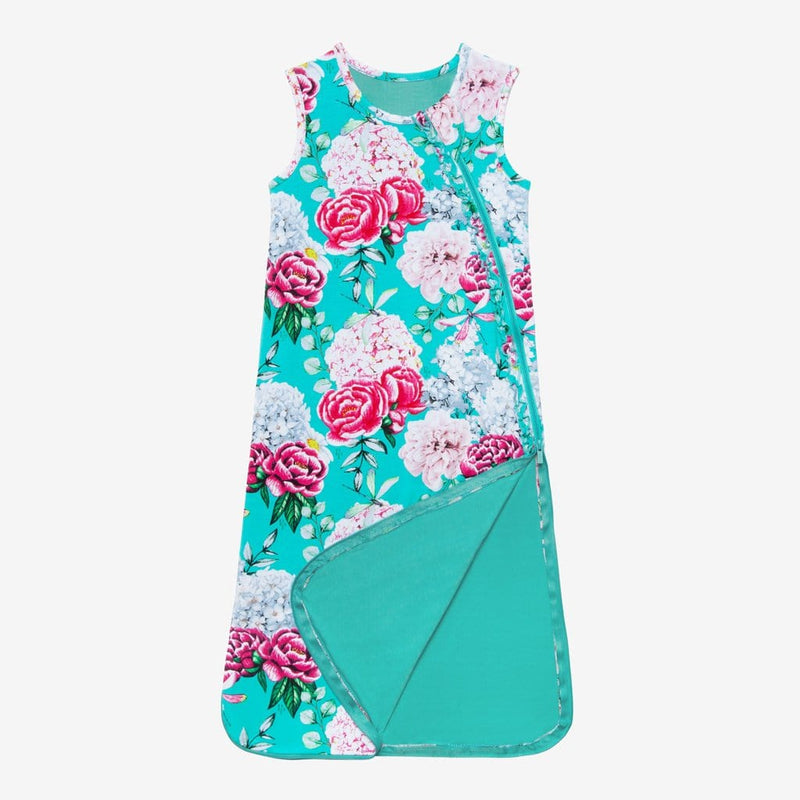 Blue green Eloise Sleeveless Ruffled Sleep Bag 0.5 Tog