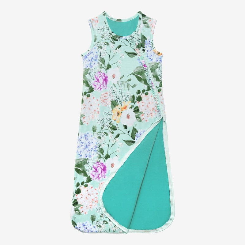 Blue Green Floral Erin Sleeveless Ruffled Sleep Bag 2.5 Tog