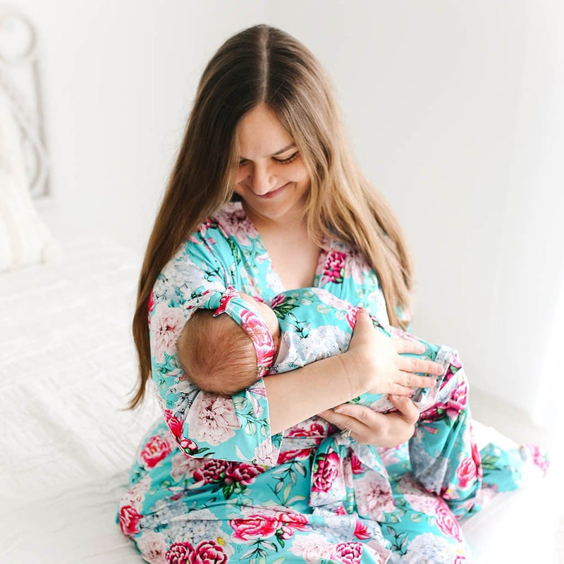 Mommy with baby wearing Eloise Robe