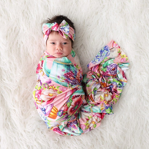 Elizabeth Swaddle Headband Set