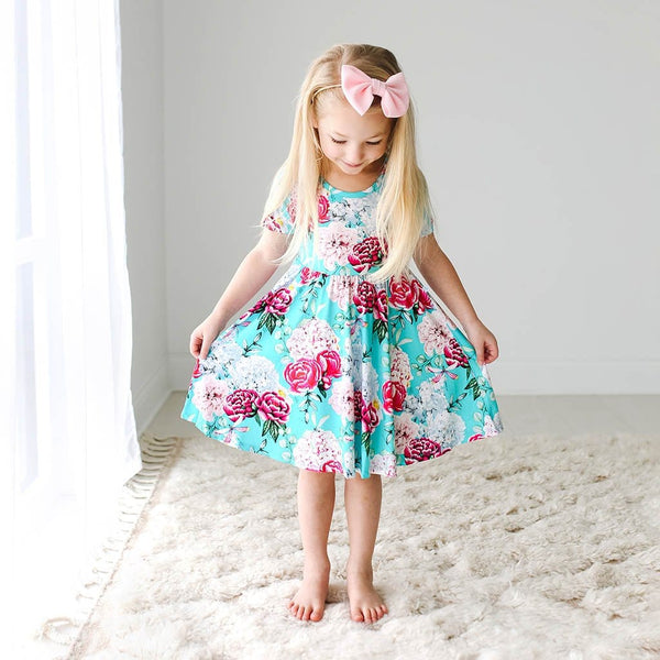Toddler wearing Eloise Short Sleeve Twirl Dress