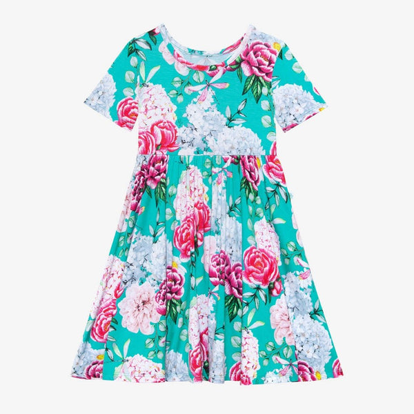 Floral Eloise Short Sleeve Twirl Dress