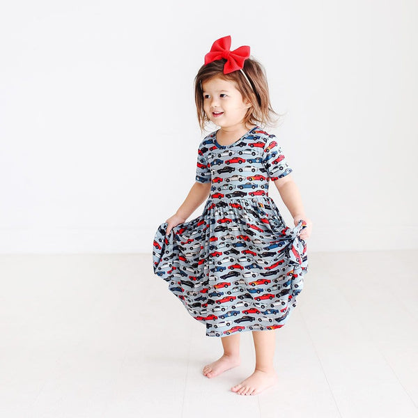 Miles Short Sleeve Twirl Dress