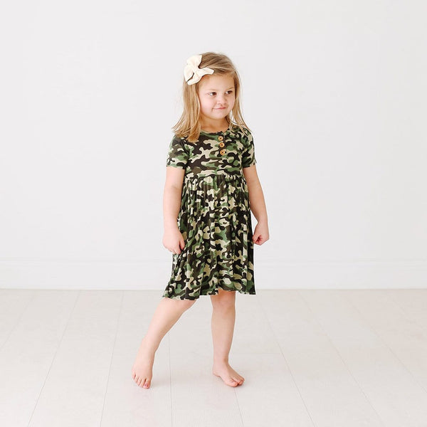 Cadet Short Sleeve Henley Twirl Dress