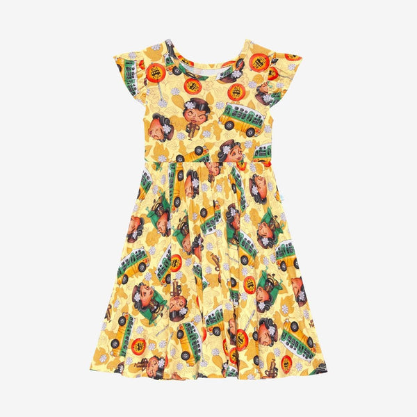 Rosa Parks Ruffled Cap Sleeve Twirl Dress