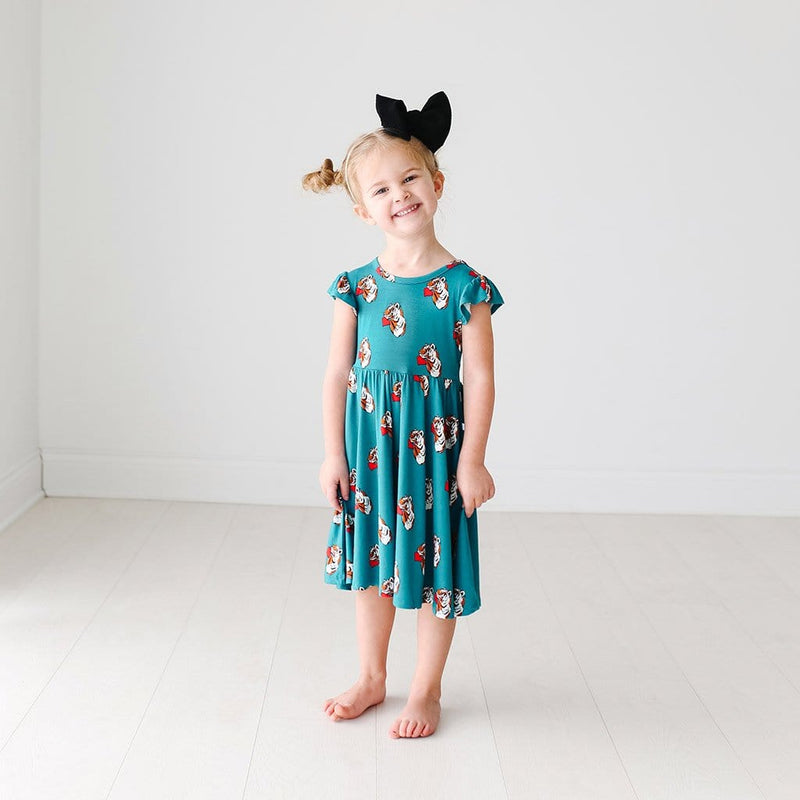 Jax Ruffled Cap Sleeve Twirl Dress