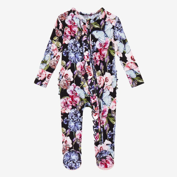 Chelsea Footie Ruffled Zippered One Piece