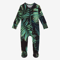 Cooper Footie Zippered One Piece with leaf design
