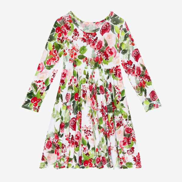 Delia Long Sleeve Twirl Dress