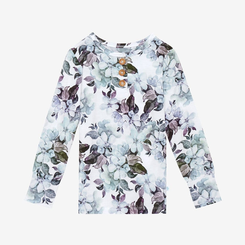 Jules Floral Long Sleeve Henley Tops