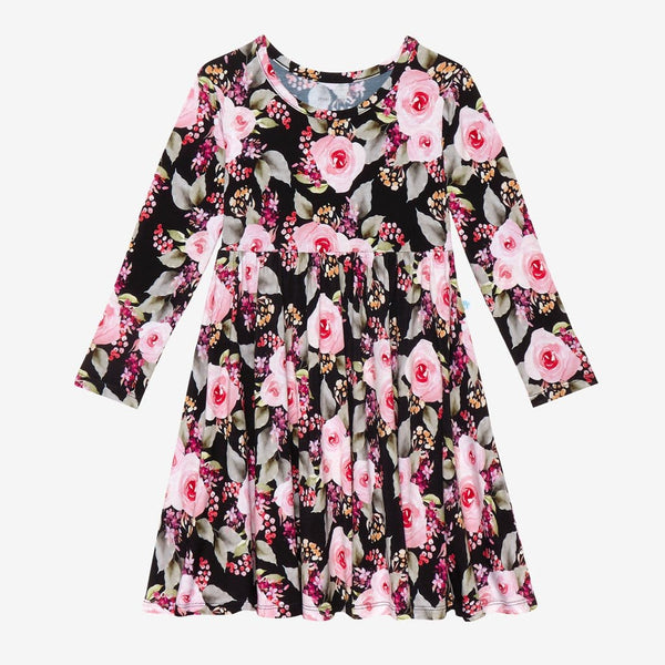 Milana Long Sleeve Twirl Dress