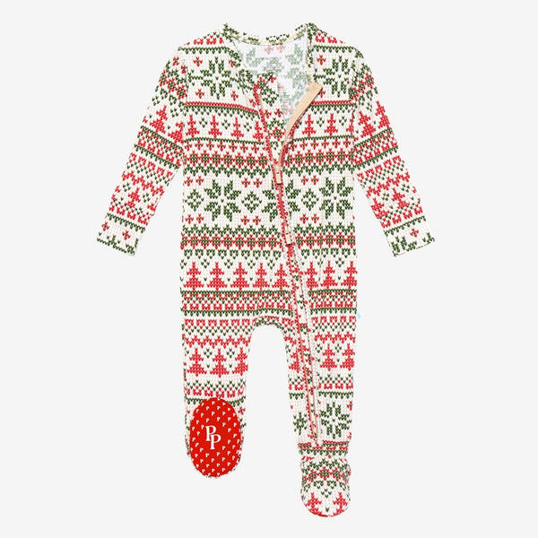 Nicholas Footie Zippered One Piece