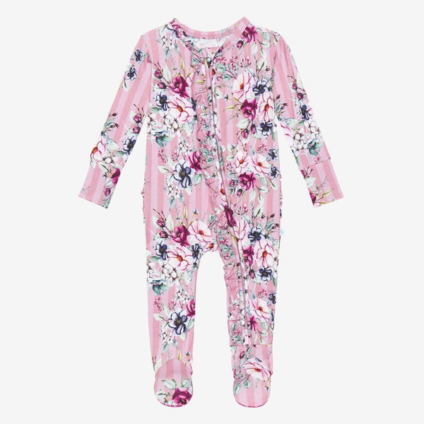 Rosalyn Footie Ruffled Zippered One Piece