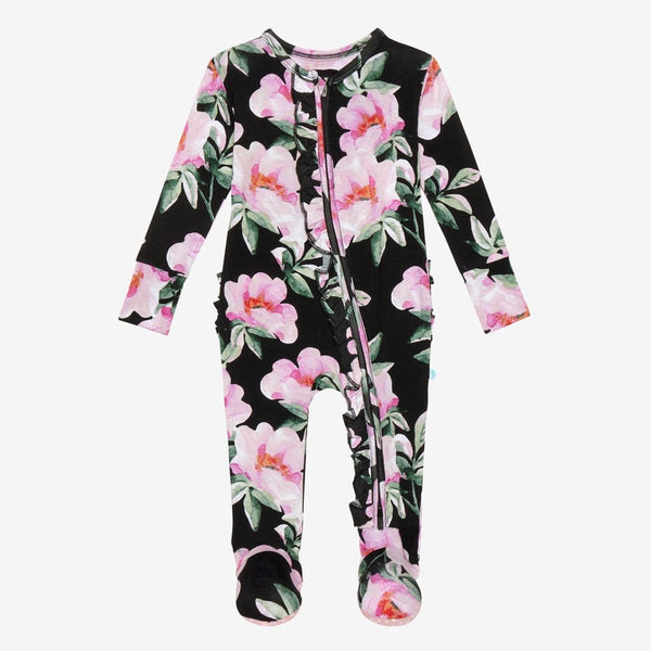 Tenni Footie Ruffled Zippered One Piece