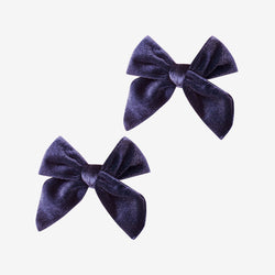 Velvet Bow Hair Clips