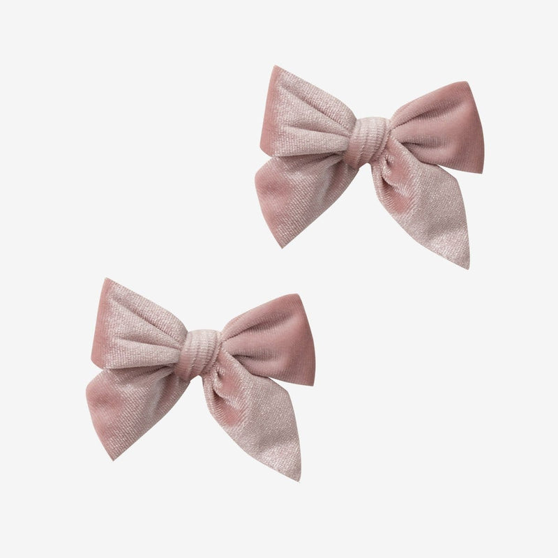 Velvet Bow Hair Clips - FINAL SALE