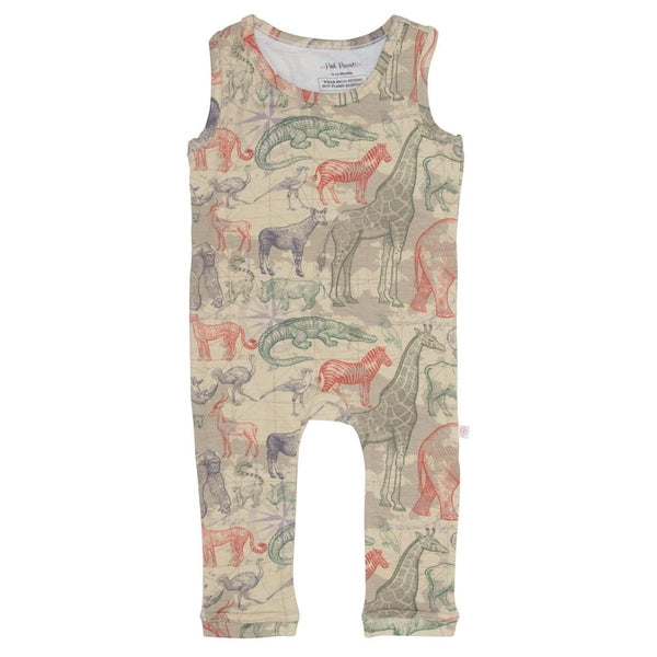 Safari Racerback Romper - FINAL SALE