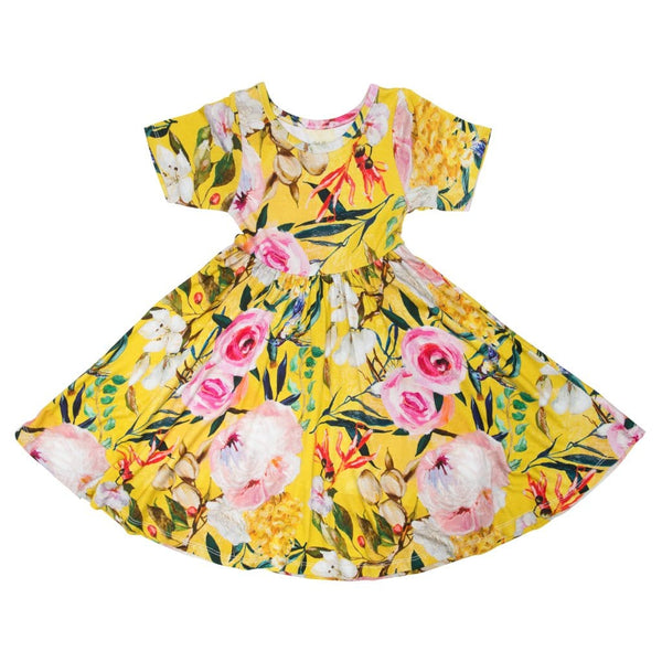 Tuscan Yellow Twirl Dress