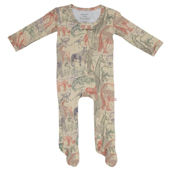 Safari Footie Zippered One Piece