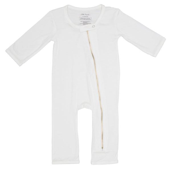 Off White Zippered One Piece FINAL SALE