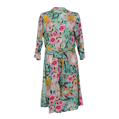 Posh-Peanut-Viscose-Bamboo-Stay-dry-fabric-reliably-chic-and-perfectly-practical-uniquely-designed-of-a-kind-mommy robe in tuscan teal