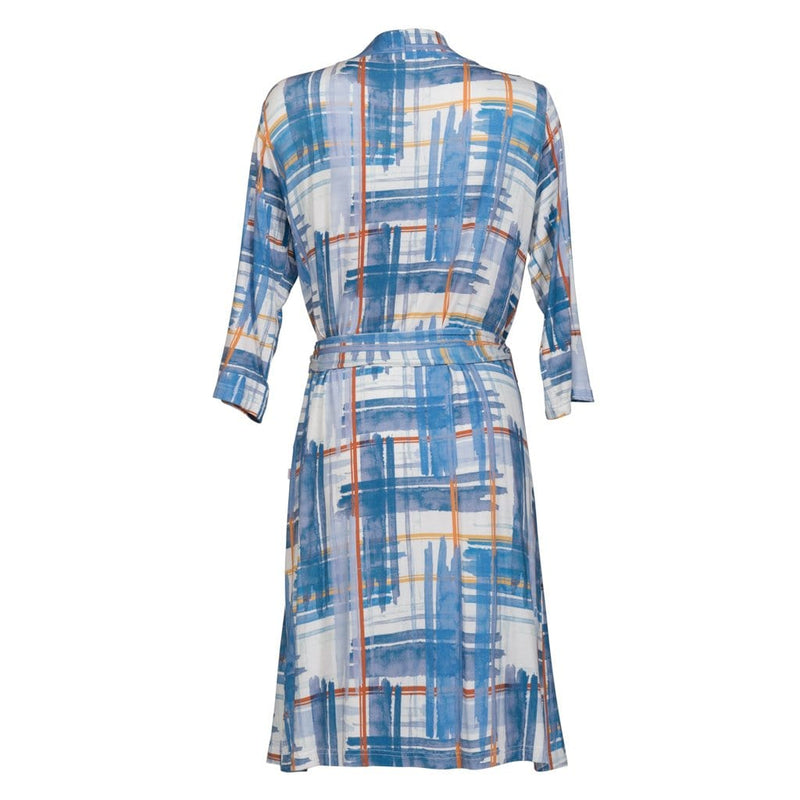 Blue Plaid Robe - FINAL SALE