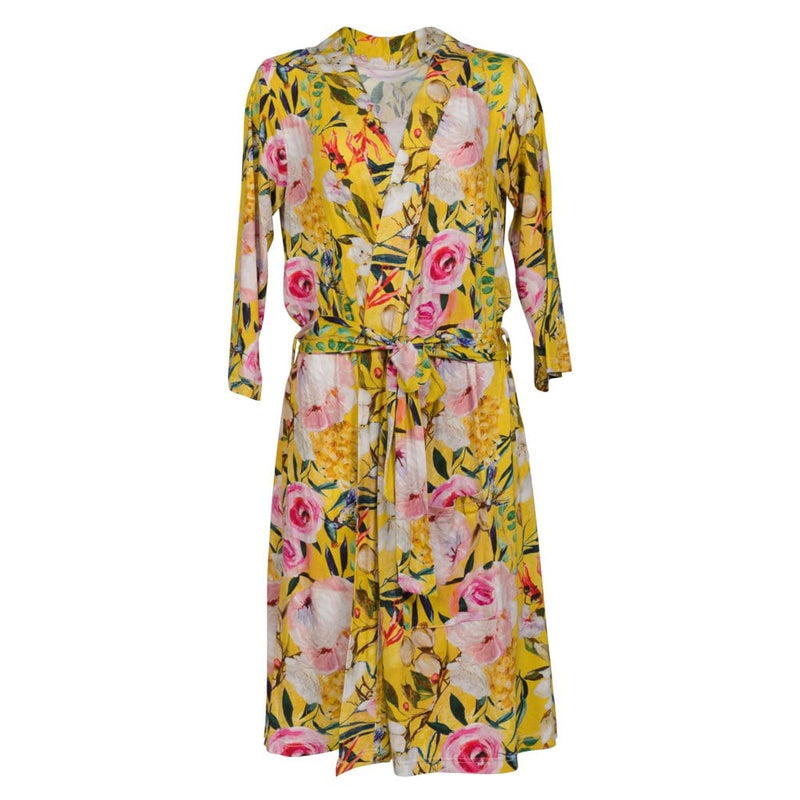 Tuscan Yellow Floral Robe - FINAL SALE