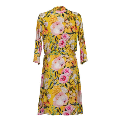 Tuscan Yellow Floral Robe
