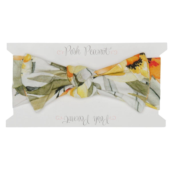 Mustard Orange Floral Headwrap - FINAL SALE