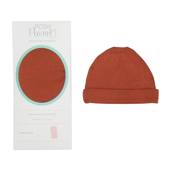 Rust Swaddle Beanie Set - FINAL SALE