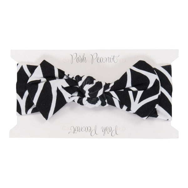 Black Leaves Headwrap - FINAL SALE