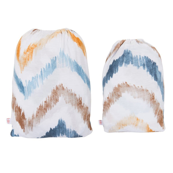 Neutral Watercolor Chevron Changing Pad Cover - FINAL SALE